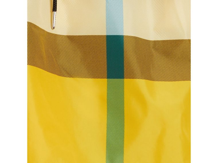 Check Drawcord Swim Shorts in Bright Yellow - Men | Burberry Australia - cell image 1