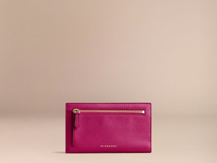 Grainy Leather Travel Case in Brilliant Fuchsia - Women | Burberry - cell image 4