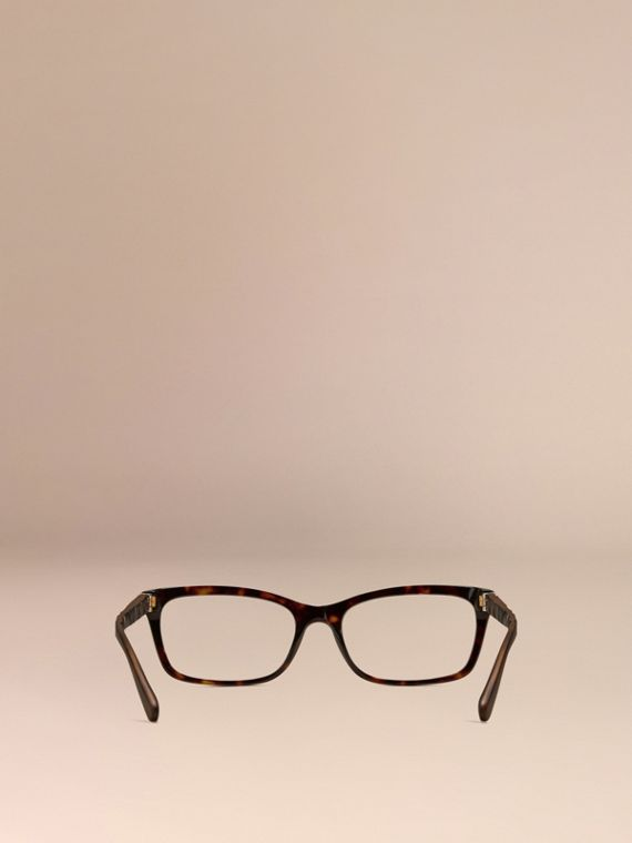 Tortoiseshell Check Detail Rectangular Optical Frames Tortoiseshell - cell image 2
