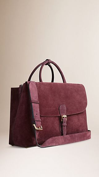 The Large Saddle Bag in Bonded Suede