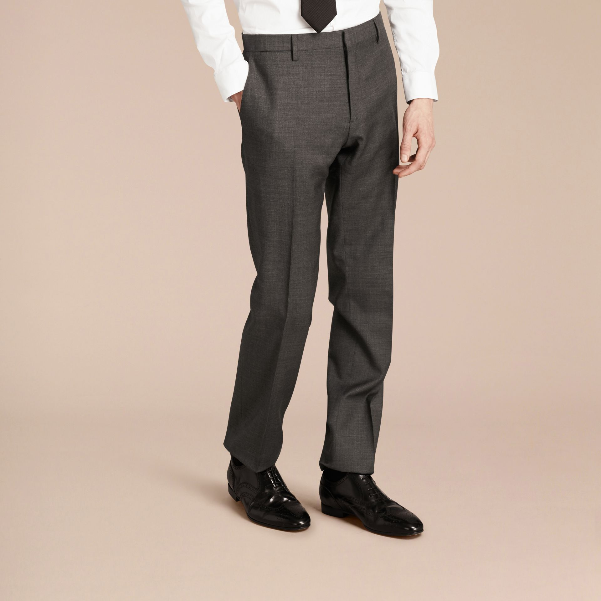 Modern Fit Travel Tailoring Virgin Wool Suit - Men | Burberry - gallery image 9