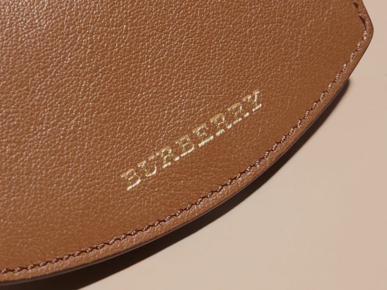 Horseferry Check and Leather Card Case in Tan - cell image 1