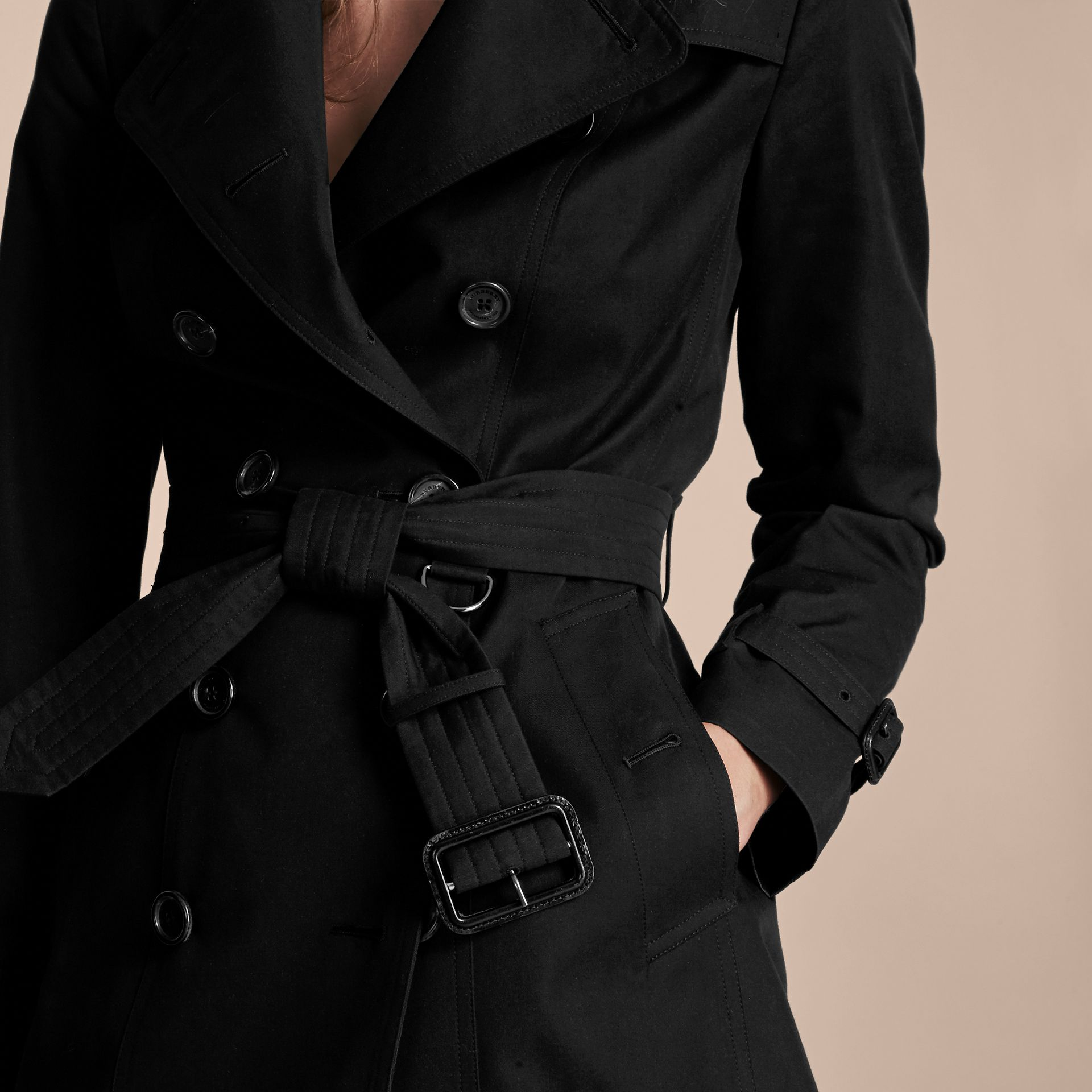 Noir The Sandringham – Trench-coat Heritage extra-long Noir - photo de la galerie 5