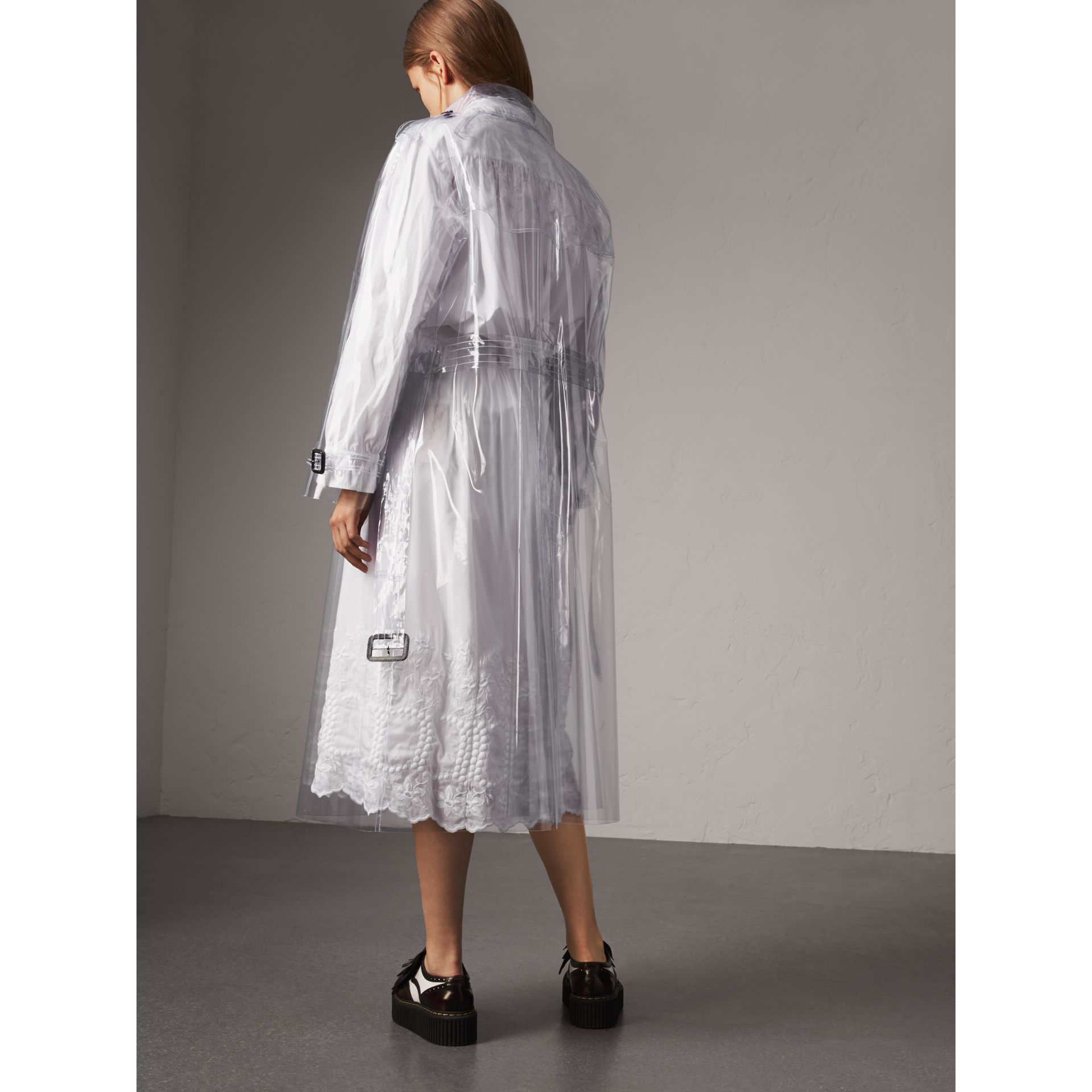 Plastic Trench Coat in Clear - Women | Burberry - gallery image 3