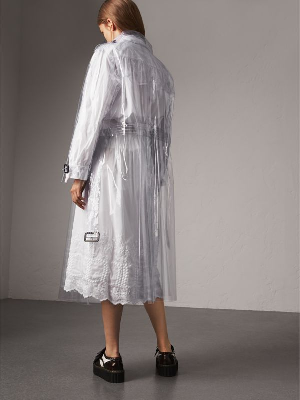 Plastic Trench Coat in Crystal - Women | Burberry - cell image 2