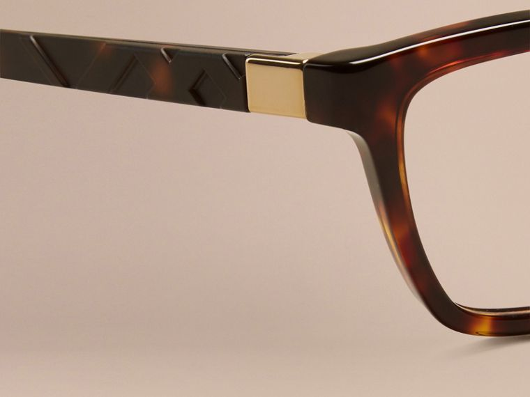 Tortoiseshell Check Detail Cat-eye Optical Frames Tortoiseshell - cell image 4