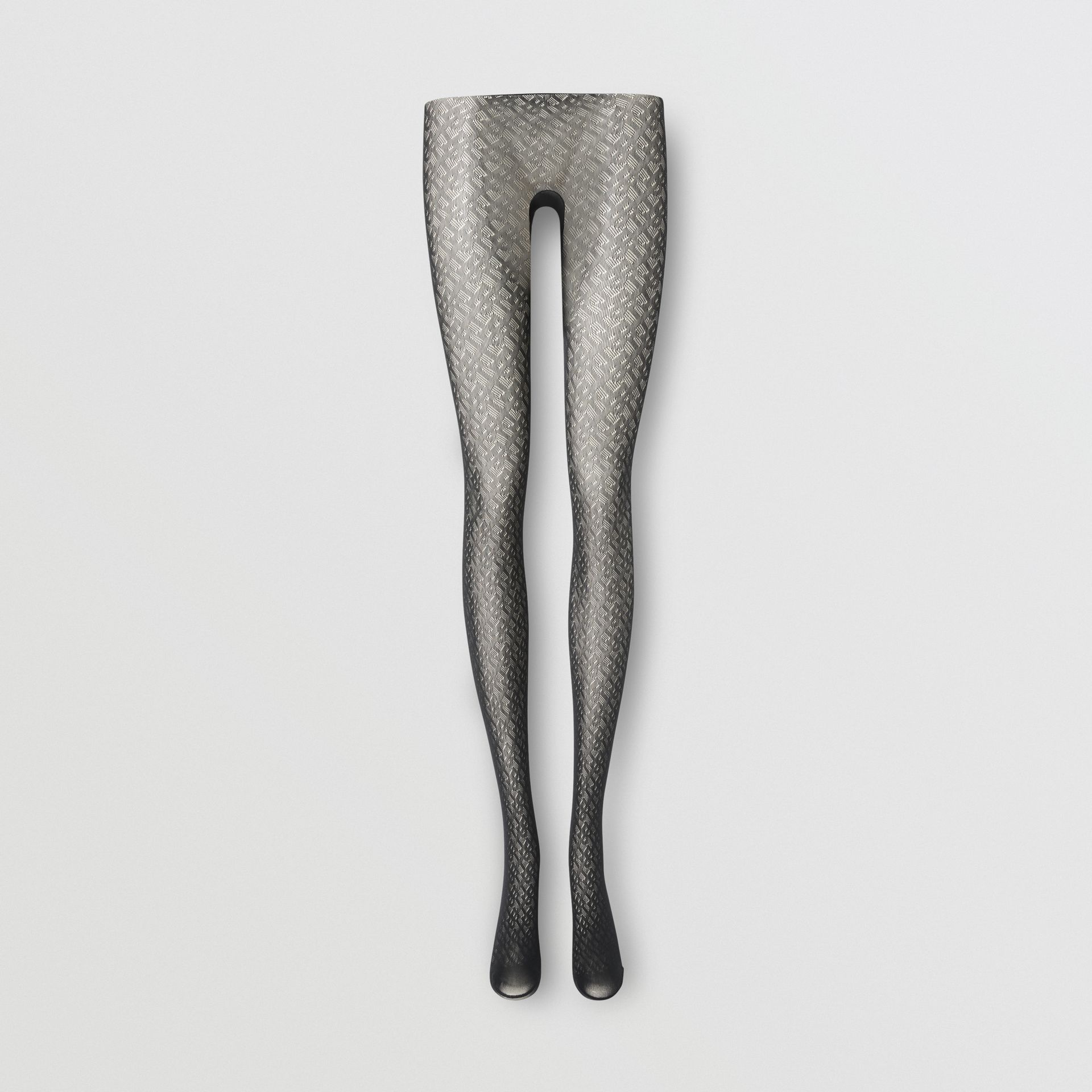 Collants Monogram (Noir) - Femme | Burberry Canada - photo de la galerie 0