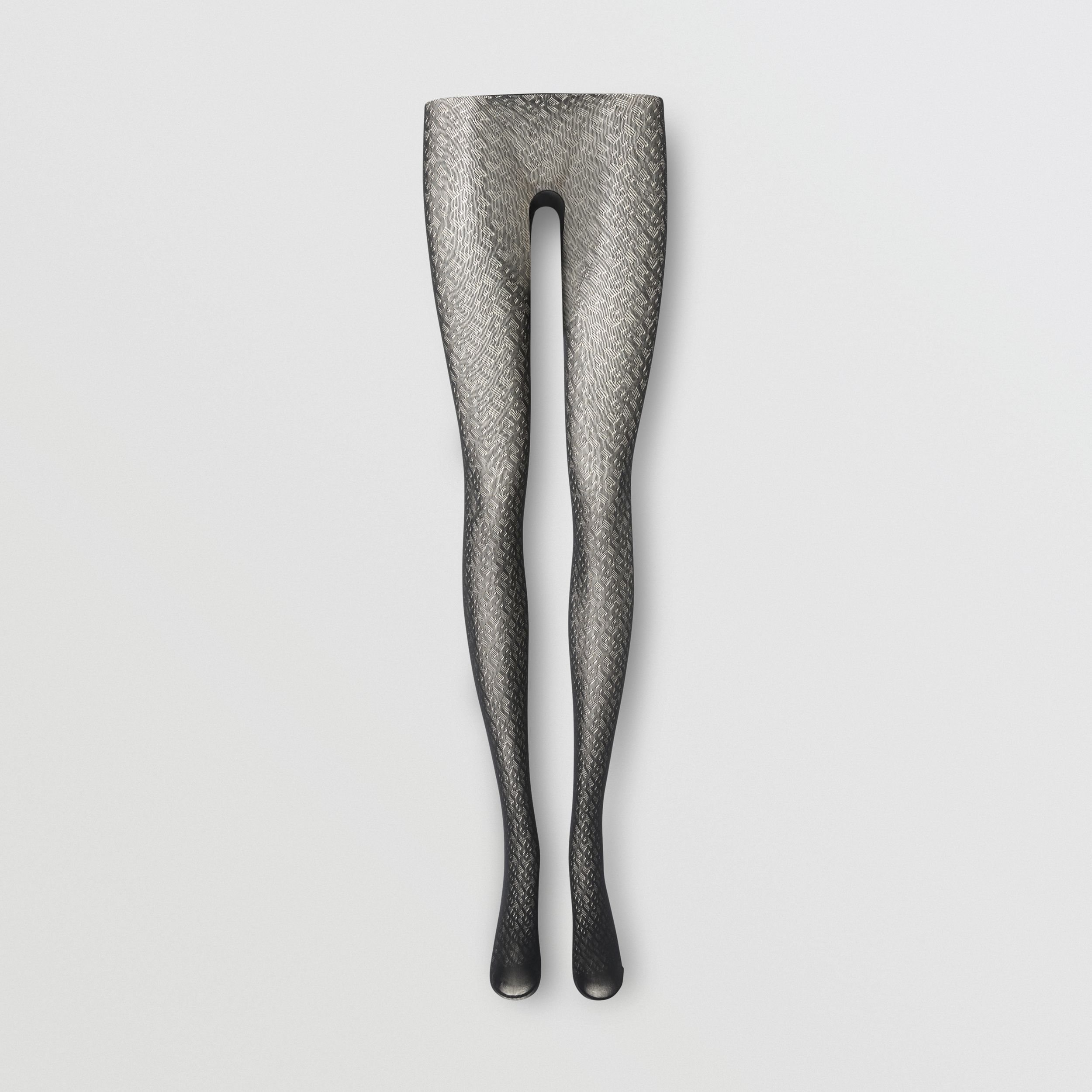 Monogram Motif Tights in Black - Women | Burberry - 1