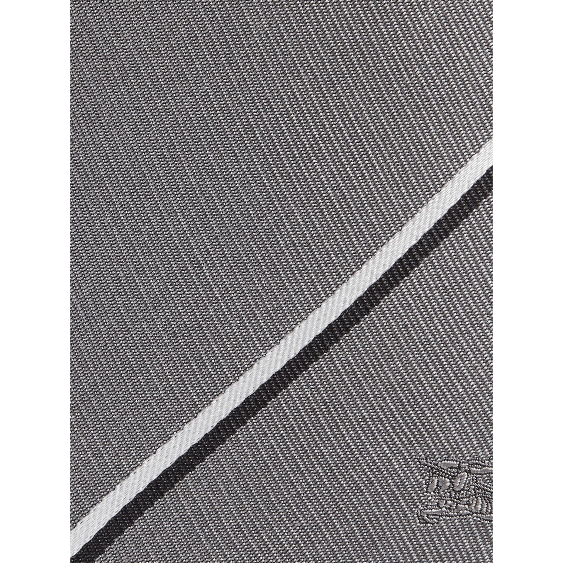 Modern Cut Striped Silk Tie in Charcoal - Men | Burberry United States - gallery image 2