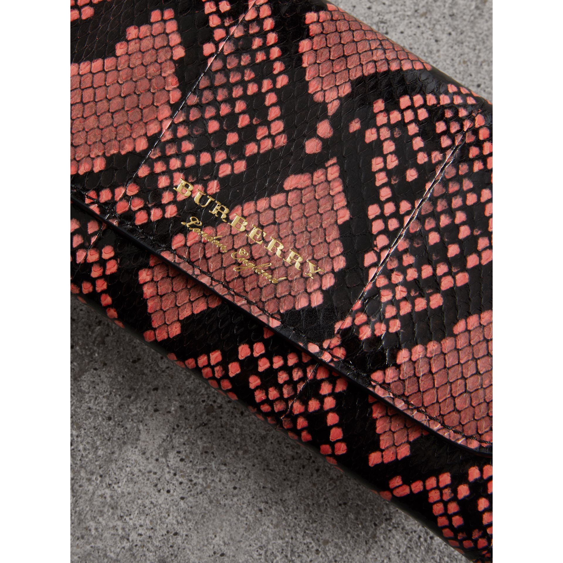 Python and Leather Continental Wallet in Peony - Women | Burberry United States - gallery image 1