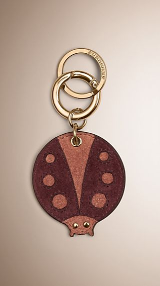 Ladybird Key Charm in Leather and Suede