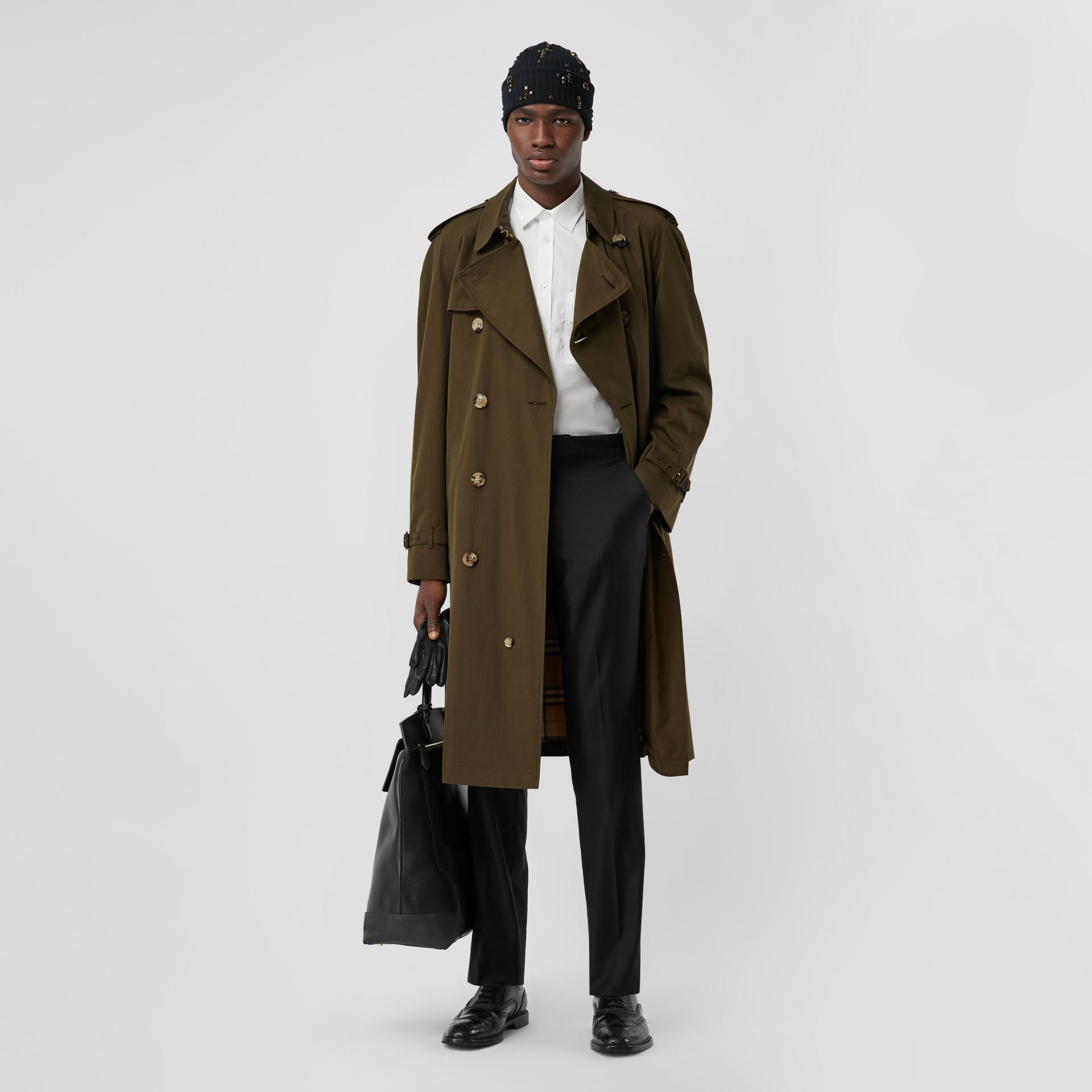 The Westminster Heritage Trench Coat in Dark Military Khaki - Men | Burberry Singapore - gallery image 5