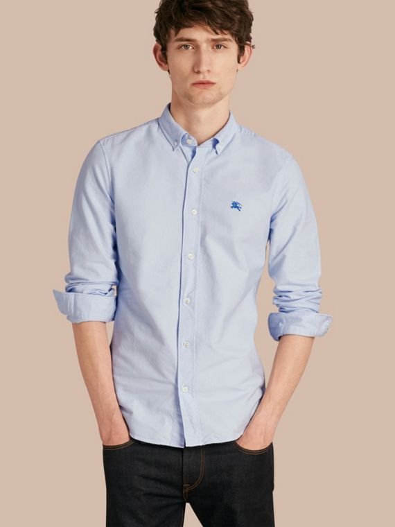 Cotton Oxford Shirt Pale Blue
