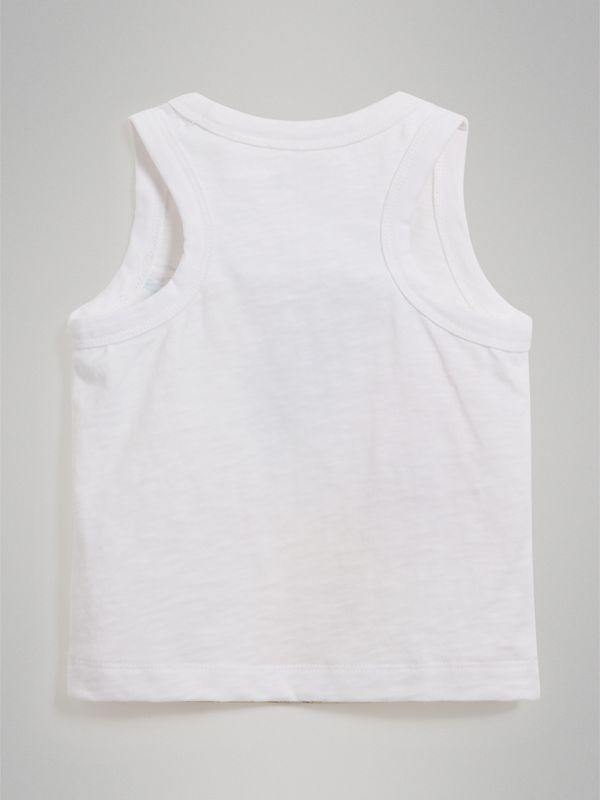 Ice-cream Print Cotton Jersey Vest in White - Children | Burberry - cell image 3