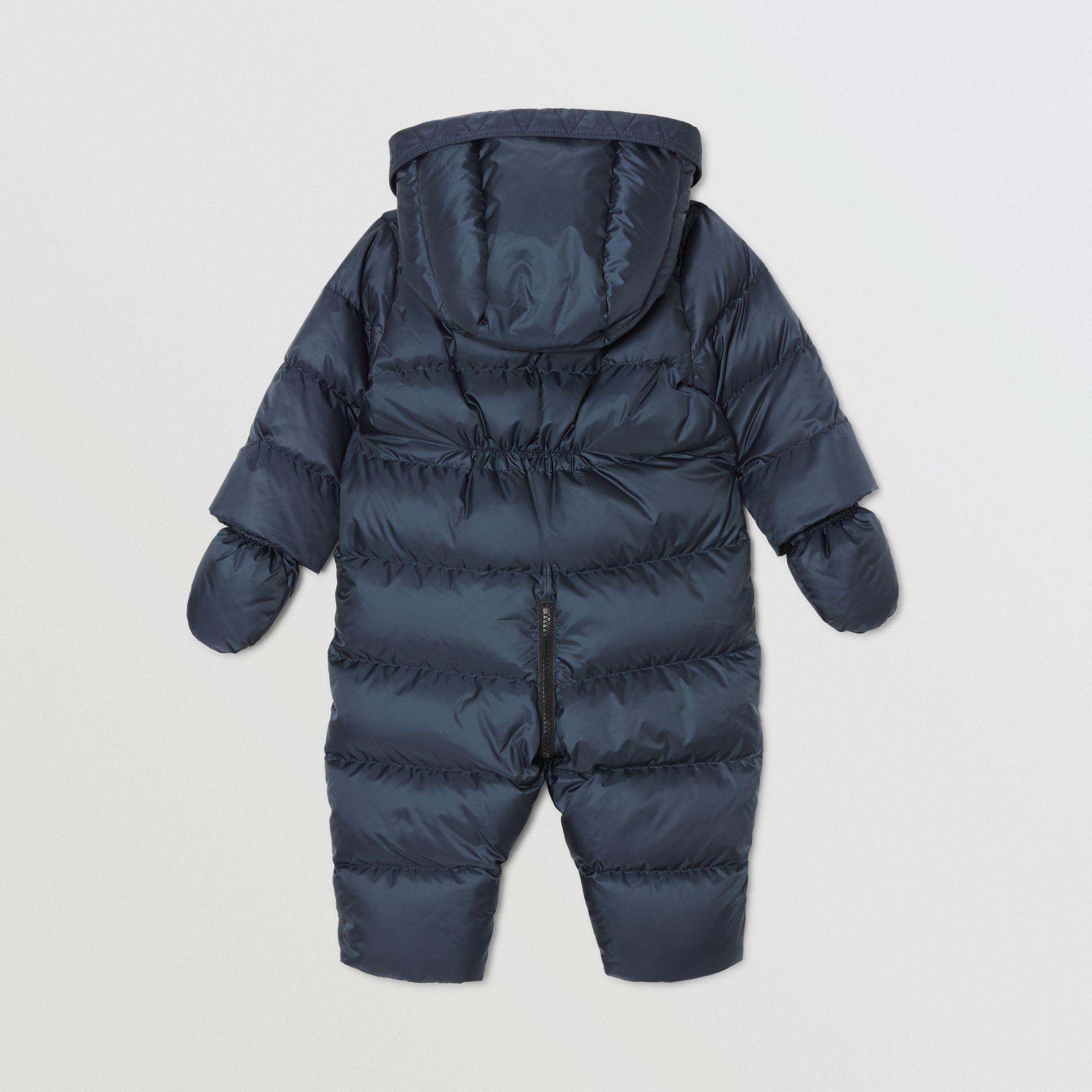 Logo Print Down-filled Puffer Suit in Navy - Children | Burberry United Kingdom - gallery image 3