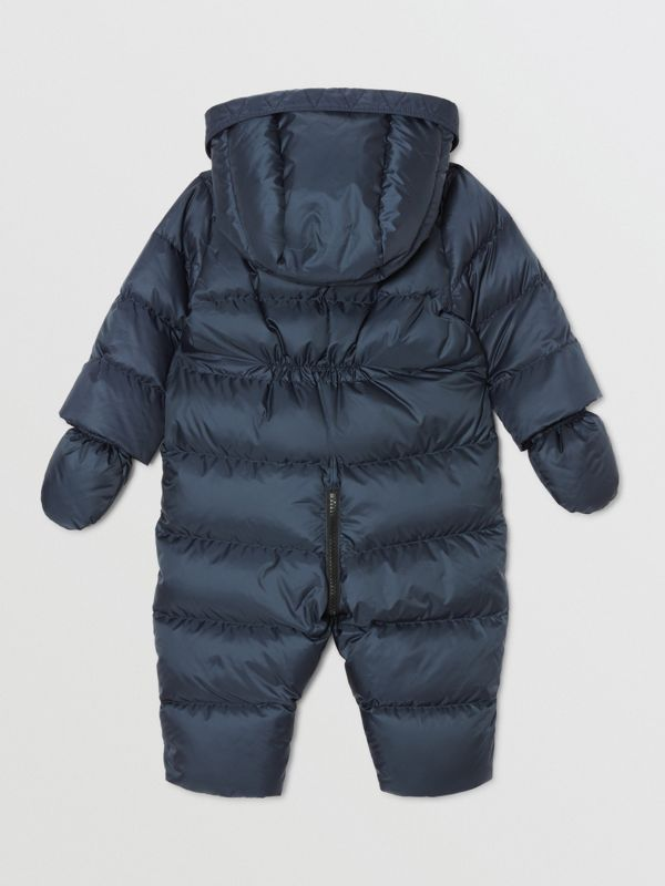 Logo Print Down-filled Puffer Suit in Navy - Children | Burberry United Kingdom - cell image 3