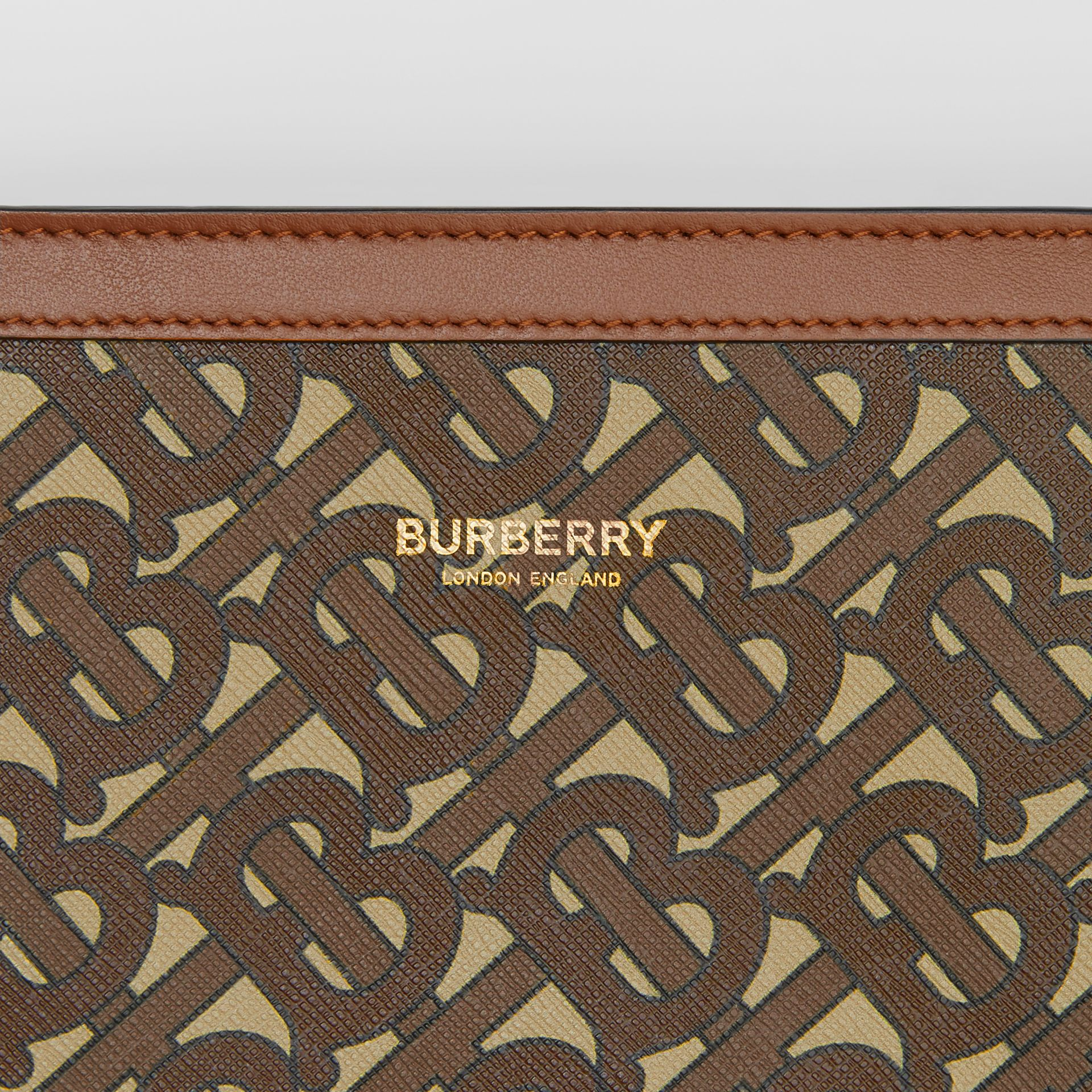 Monogram Print E-canvas Crossbody Bag in Bridle Brown - Men | Burberry - gallery image 1