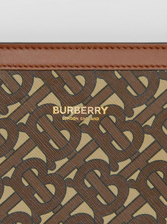 Monogram Print E-canvas Crossbody Bag in Bridle Brown - Men | Burberry - cell image 1
