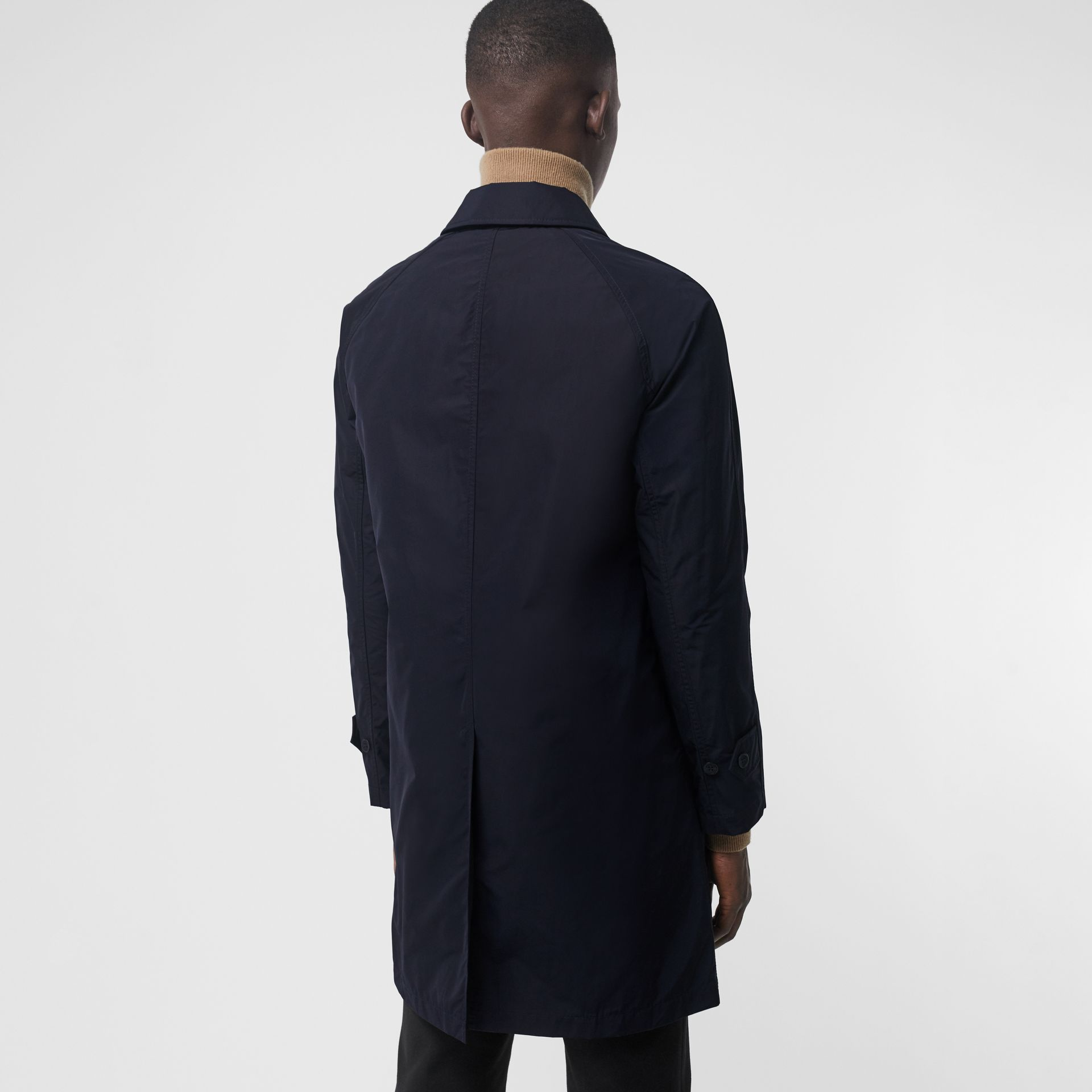 Shape-memory Taffeta Car Coat with Warmer in Navy - Men | Burberry - gallery image 2