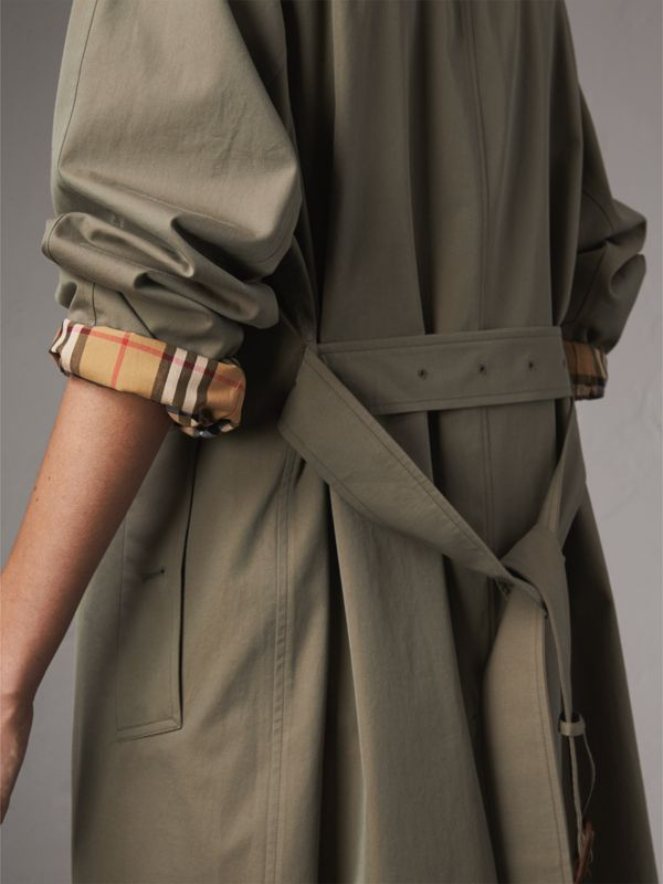 The Brighton – 超長版 Car Coat 大衣 (粉筆綠) - 女款 | Burberry - cell image 3