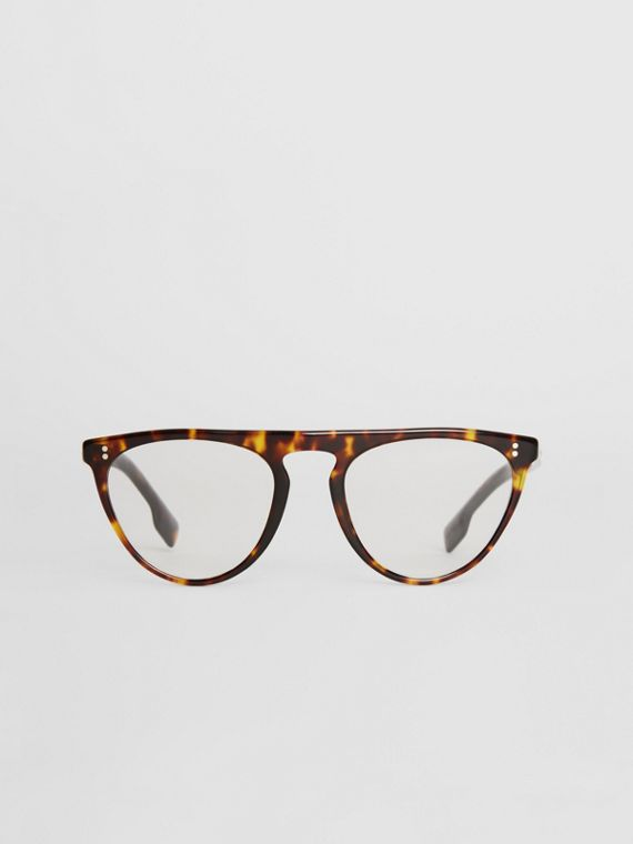 Keyhole D-shaped Optical Frames in Tortoise Shell