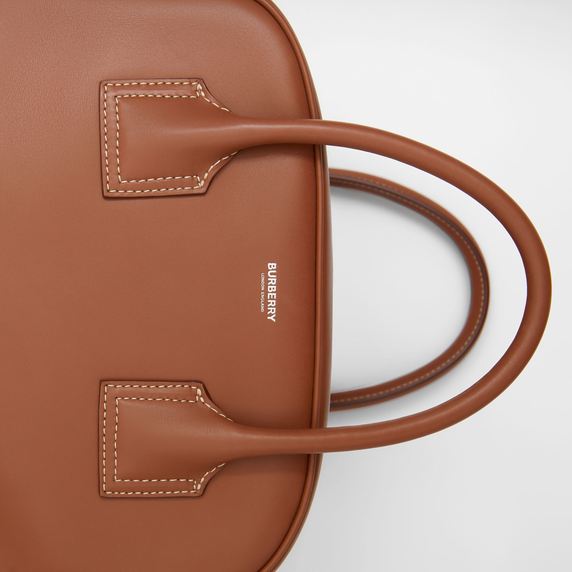 Medium Leather Cube Bag in Malt Brown - Women | Burberry United Kingdom - gallery image 1