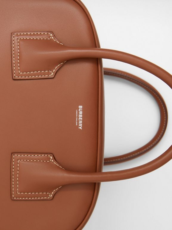 Medium Leather Cube Bag in Malt Brown - Women | Burberry - cell image 1