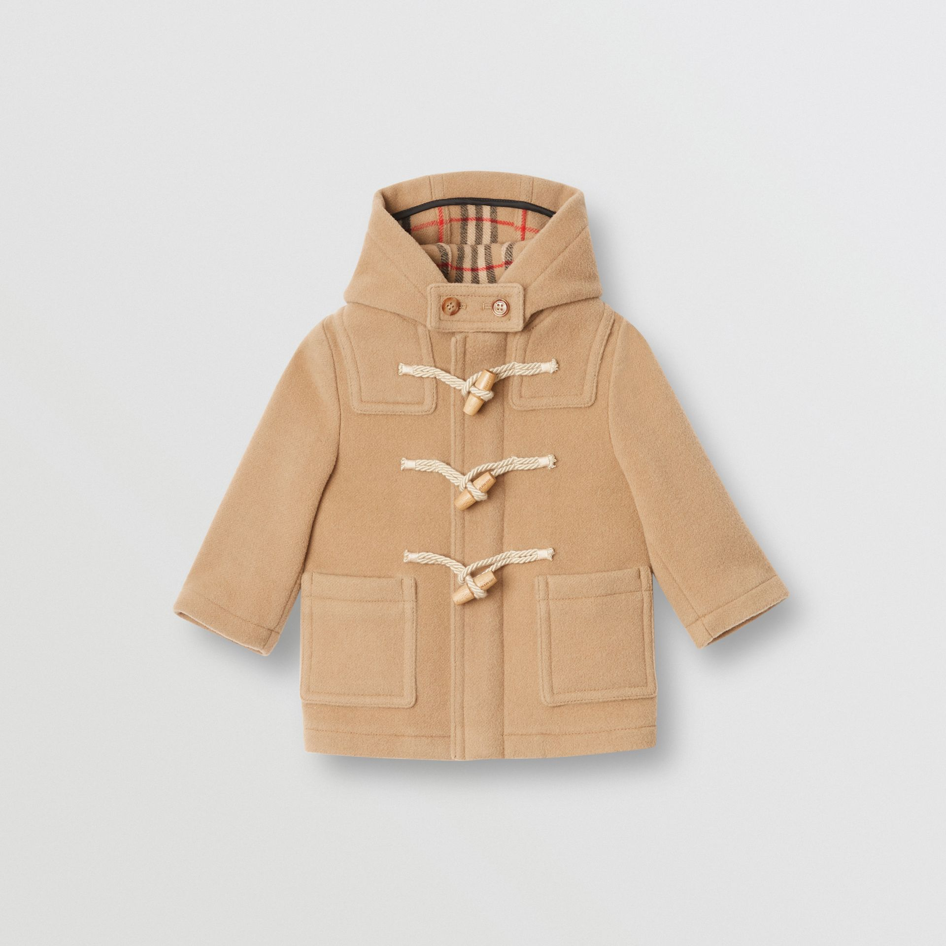 Boiled Wool Duffle Coat in Archive Beige - Children | Burberry Australia - gallery image 0