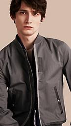 Matte Technical Cotton Bomber Jacket