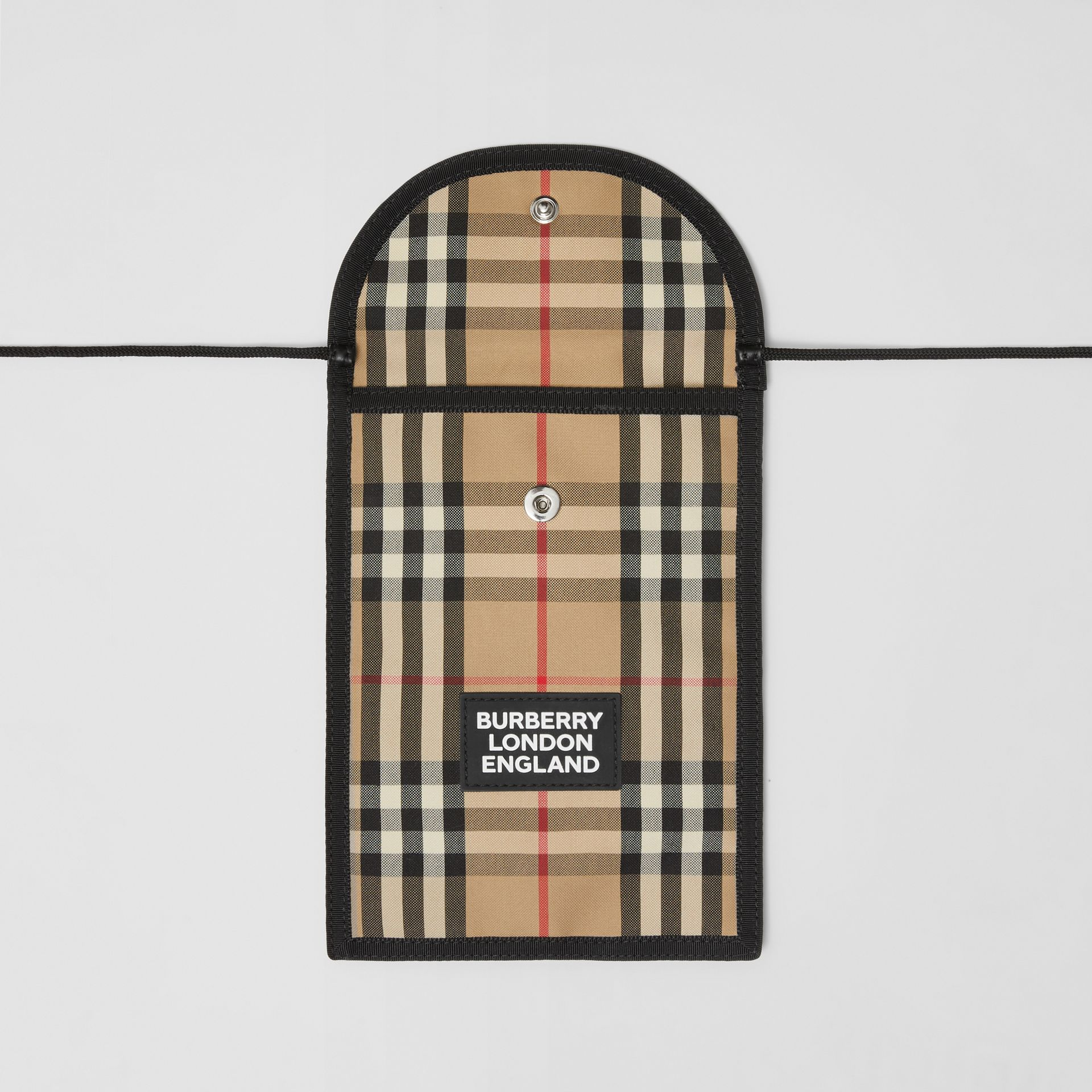 Logo Appliqué Vintage Check Phone Case Lanyard in Archive Beige | Burberry United States - gallery image 4