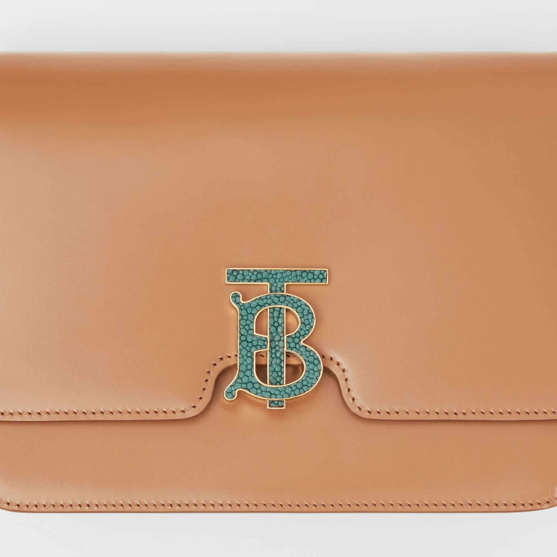Medium Leather TB Bag in Flaxseed - Women | Burberry United States - gallery image 1
