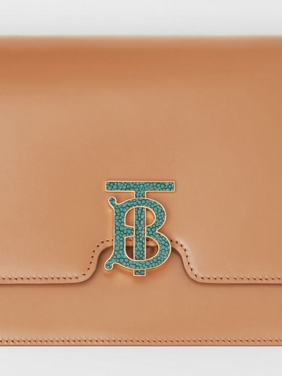Medium Leather TB Bag in Flaxseed - Women | Burberry United States - cell image 1