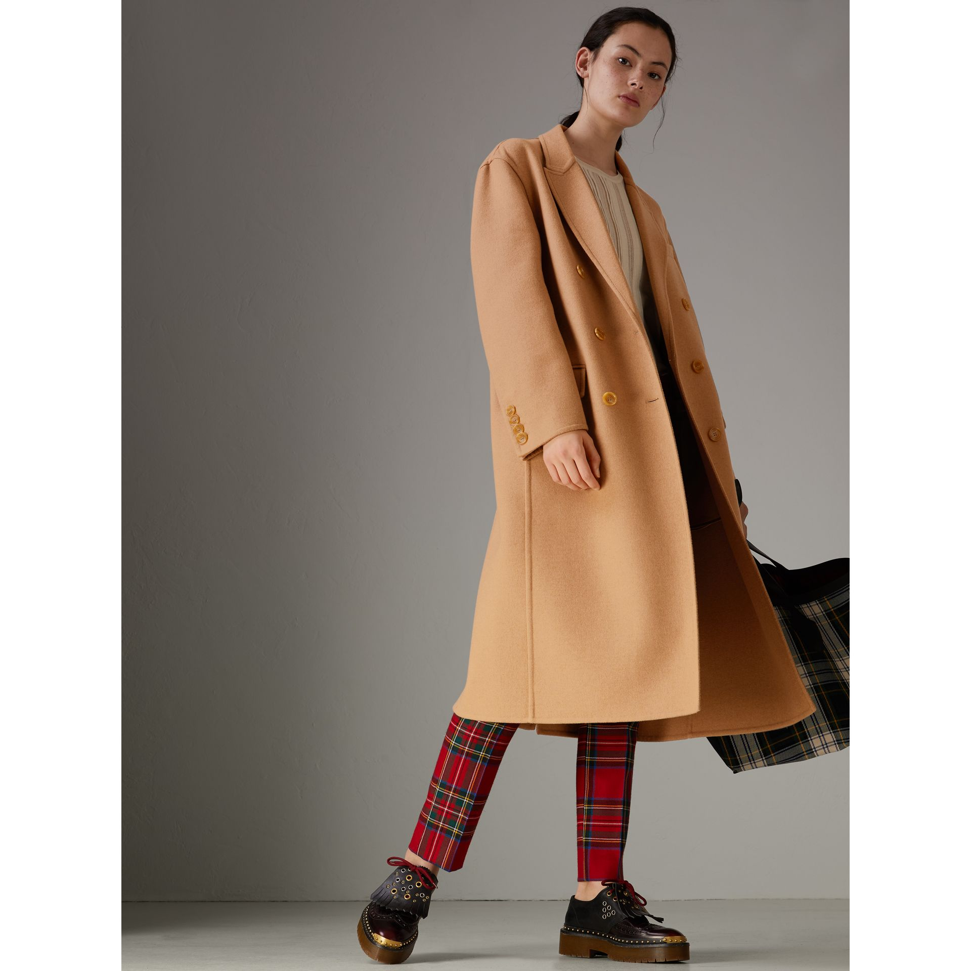 Double Camel Hair Tailored Coat - Women | Burberry Singapore - gallery image 0