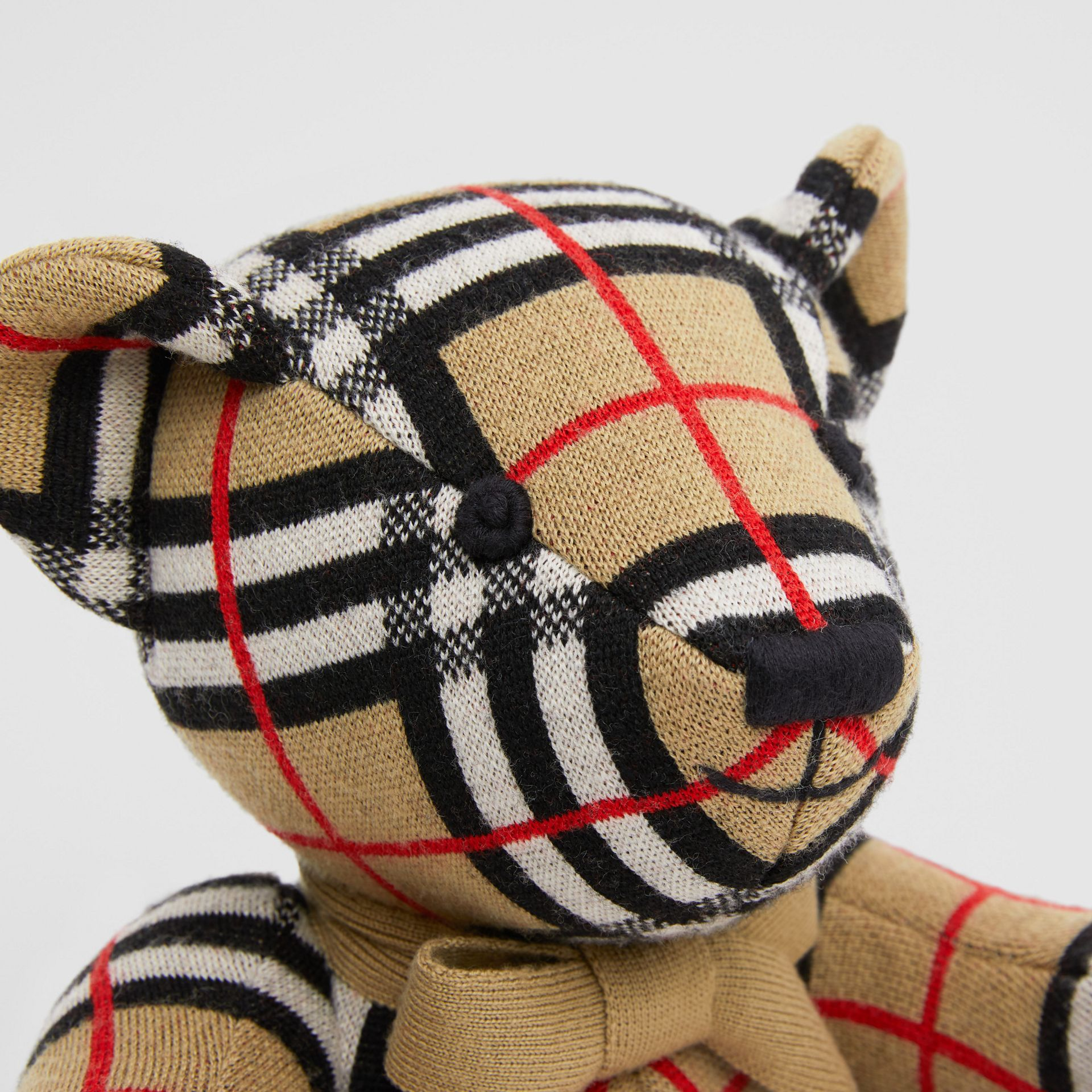 Check Merino Wool Thomas Bear in Archive Beige - Children | Burberry United States - gallery image 1