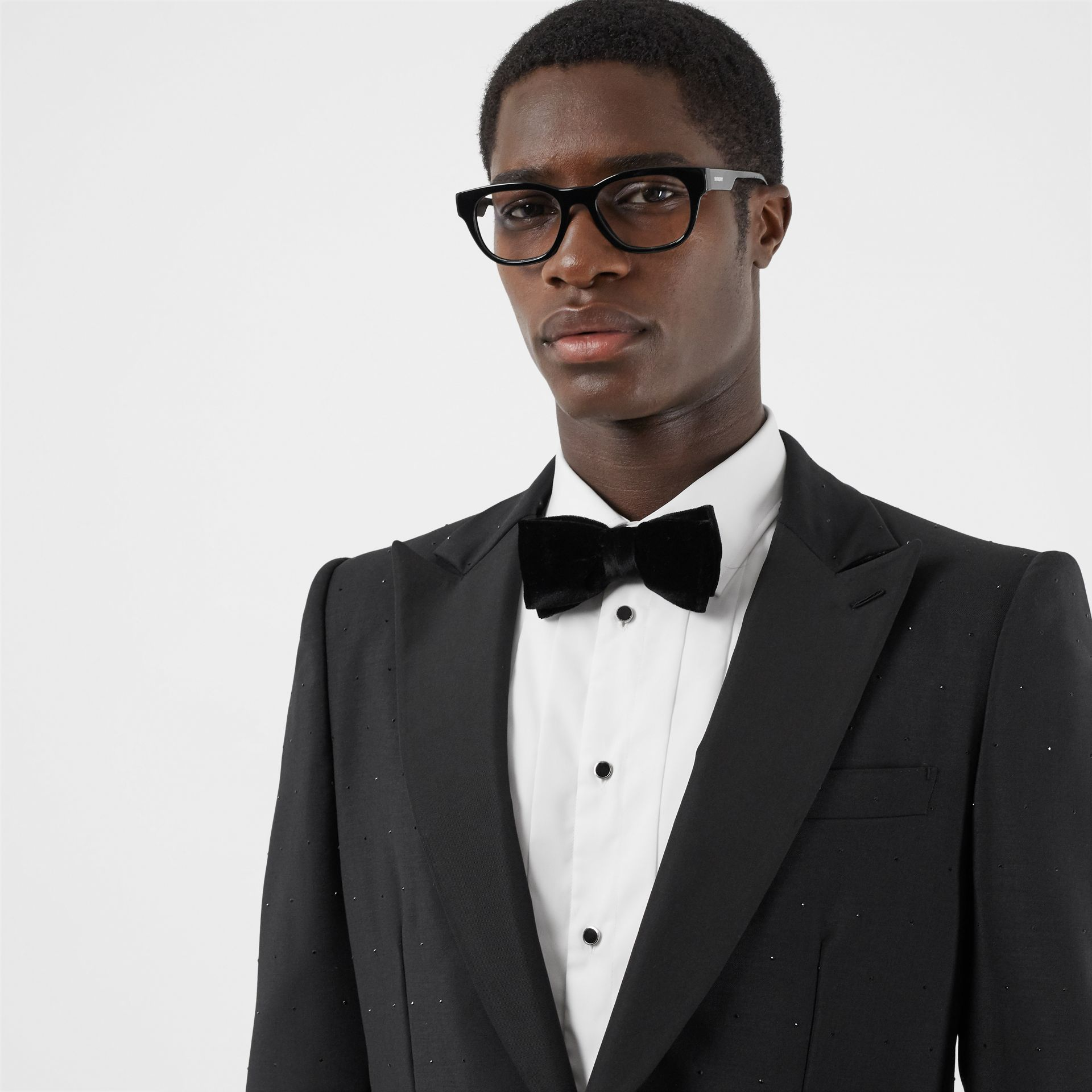 Velvet and Silk Bow Tie in Black - Men | Burberry - gallery image 2