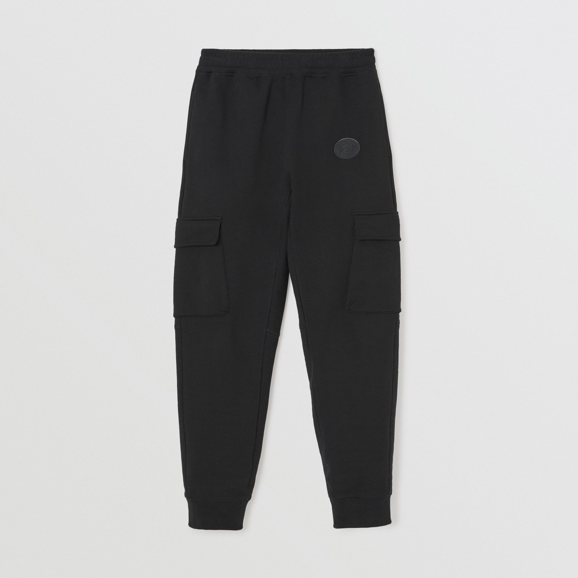 Pocket Detail Cotton Jersey Trackpants in Black - Women | Burberry United States - gallery image 3