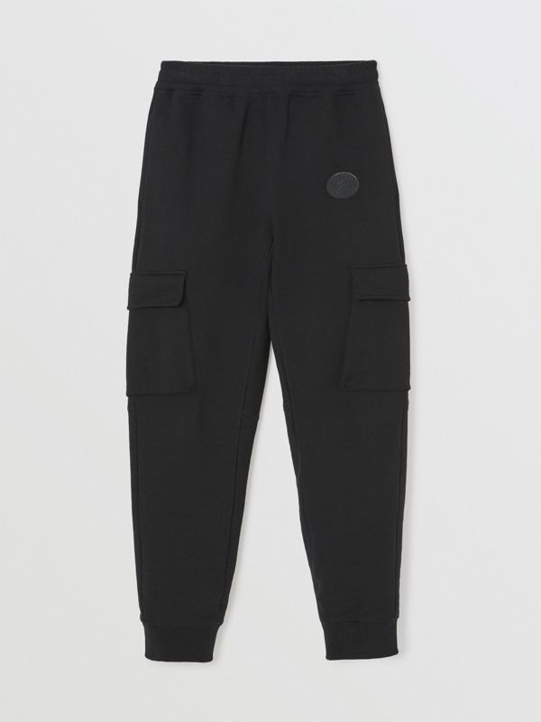 Pocket Detail Cotton Jersey Trackpants in Black - Women | Burberry Australia - cell image 3
