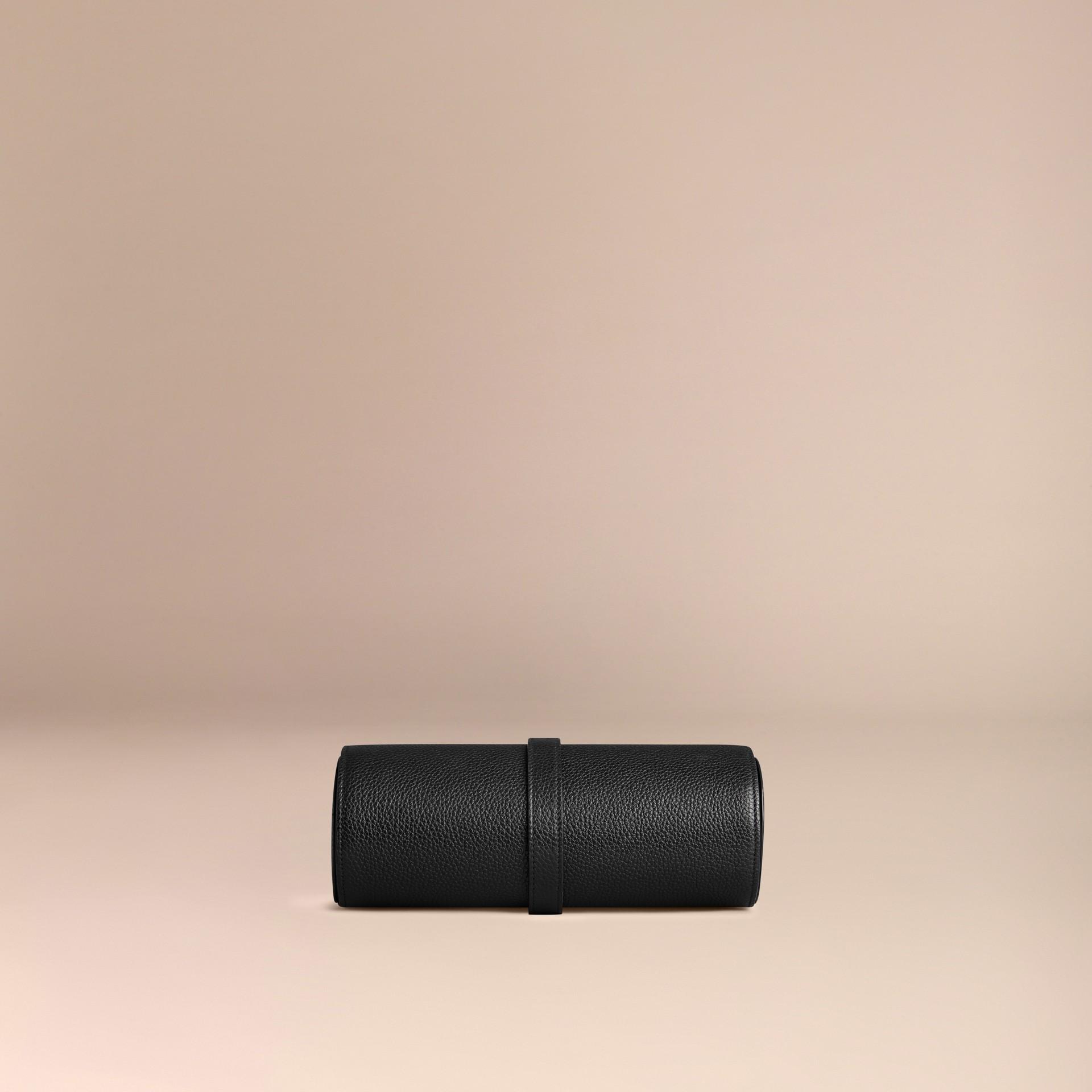 Nero Custodia per orologi in pelle a grana Nero - immagine della galleria 4