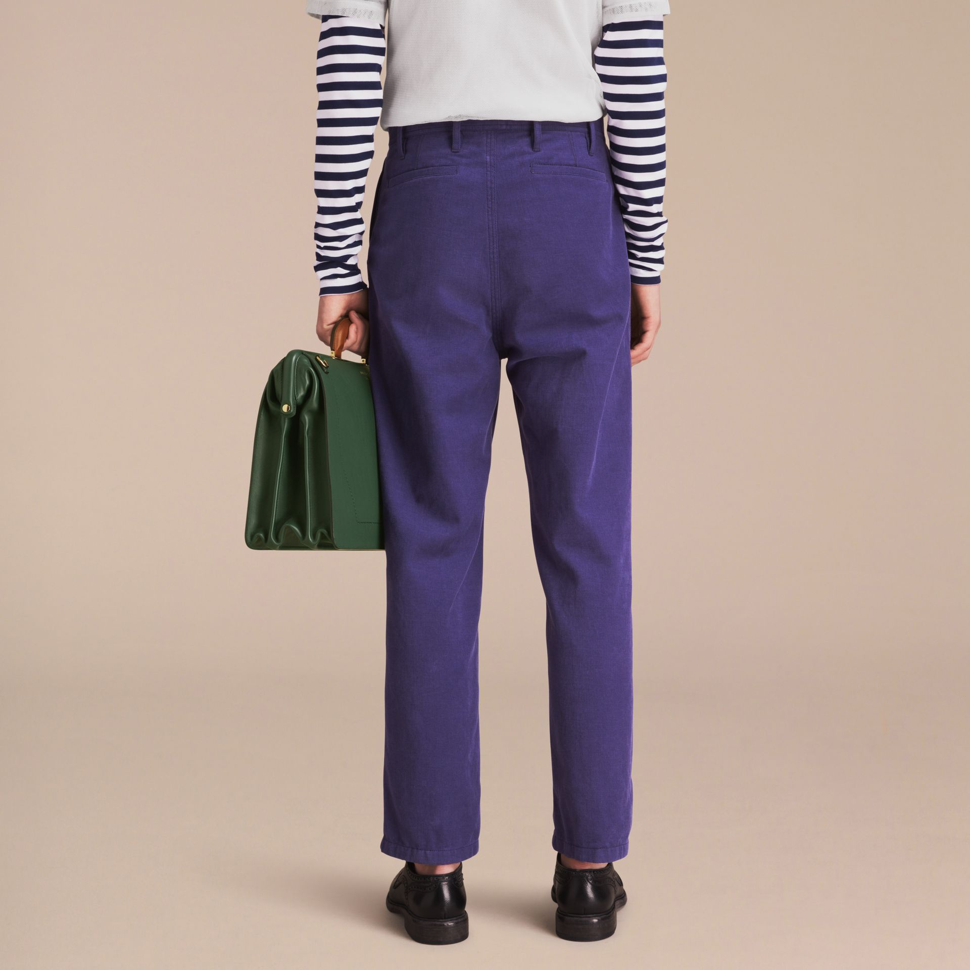 Cotton Cropped Artist Trousers - Men | Burberry - gallery image 3