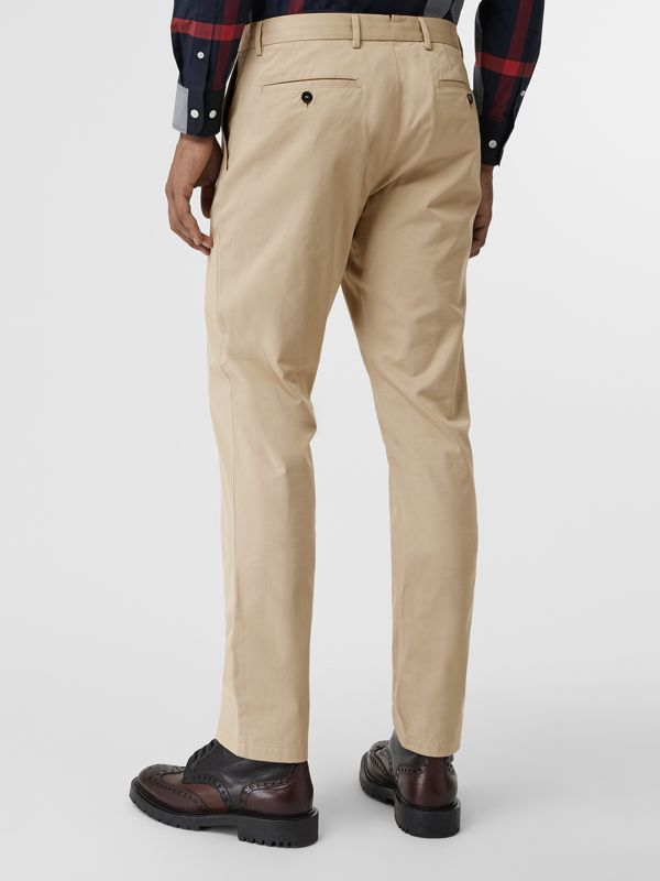 Slim Fit Cotton Chinos in Stone - Men | Burberry United Kingdom - cell image 2