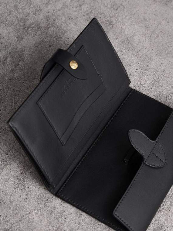 Equestrian Shield Leather Continental Wallet in Black - Women | Burberry - cell image 3