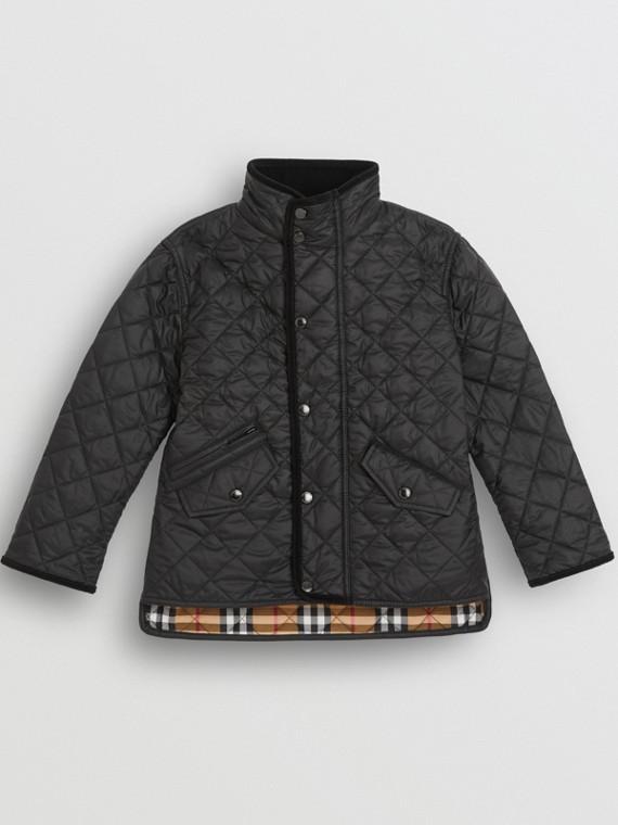 Leichte Jacke in Rautensteppung (Schwarz)
