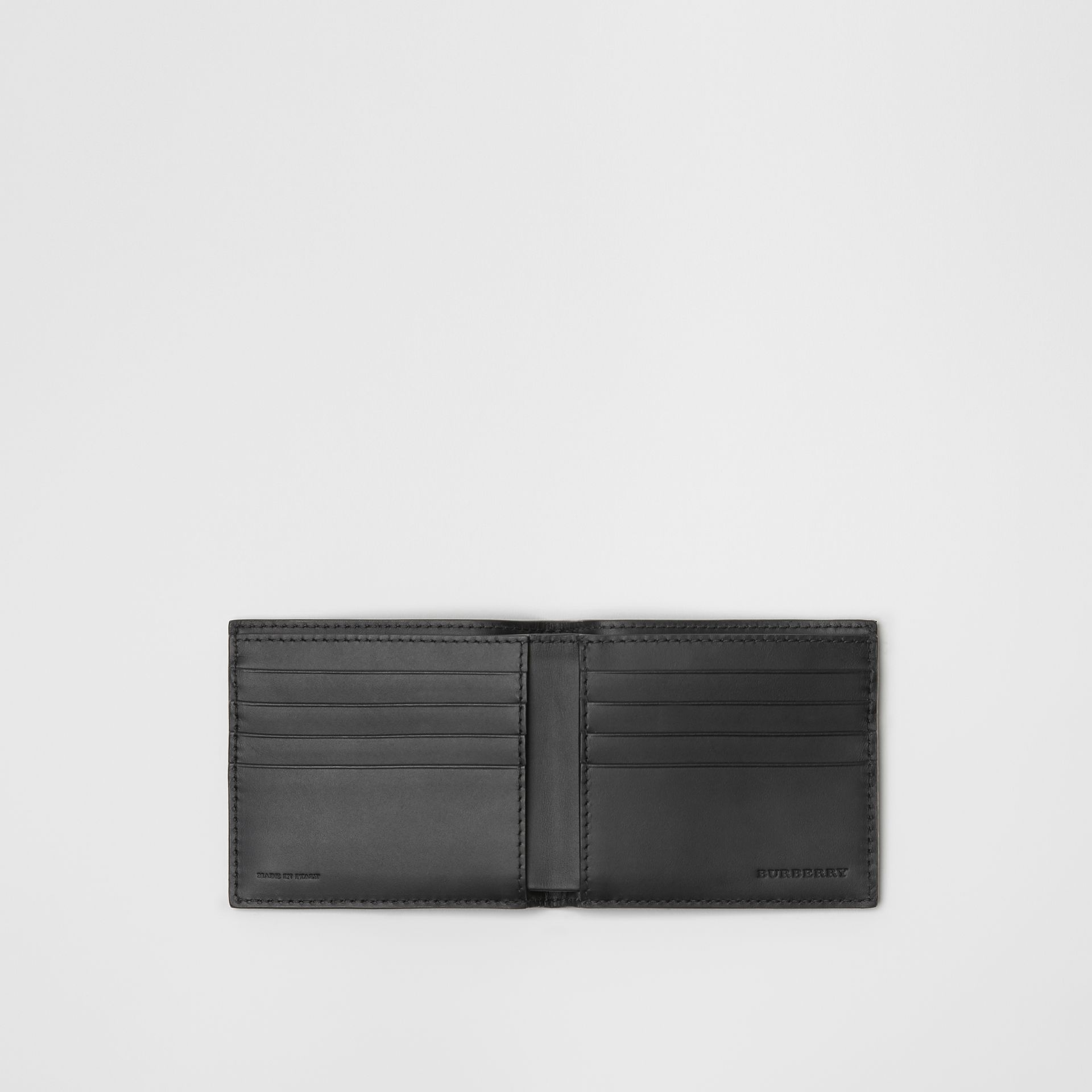 London Leather International Bifold Wallet in Black - Men | Burberry Hong Kong - gallery image 3