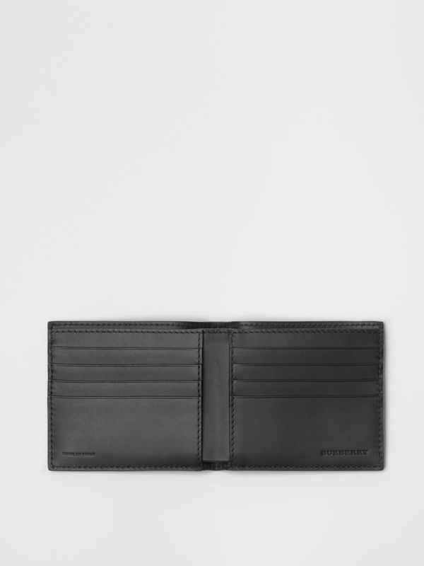 London Leather International Bifold Wallet in Black - Men | Burberry Canada - cell image 3