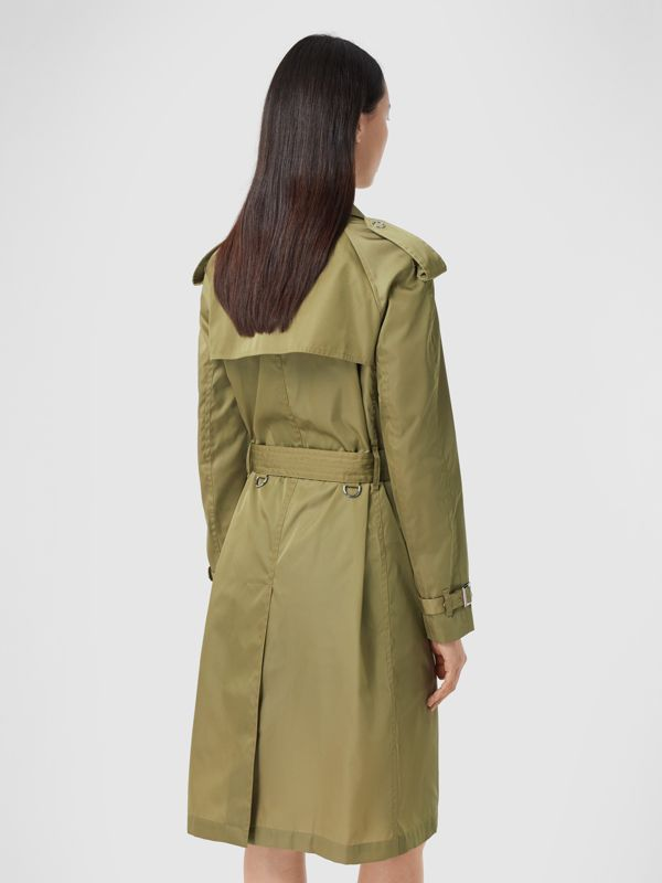Press-stud Detail ECONYL® Trench Coat in Rich Olive - Women | Burberry Australia - cell image 2
