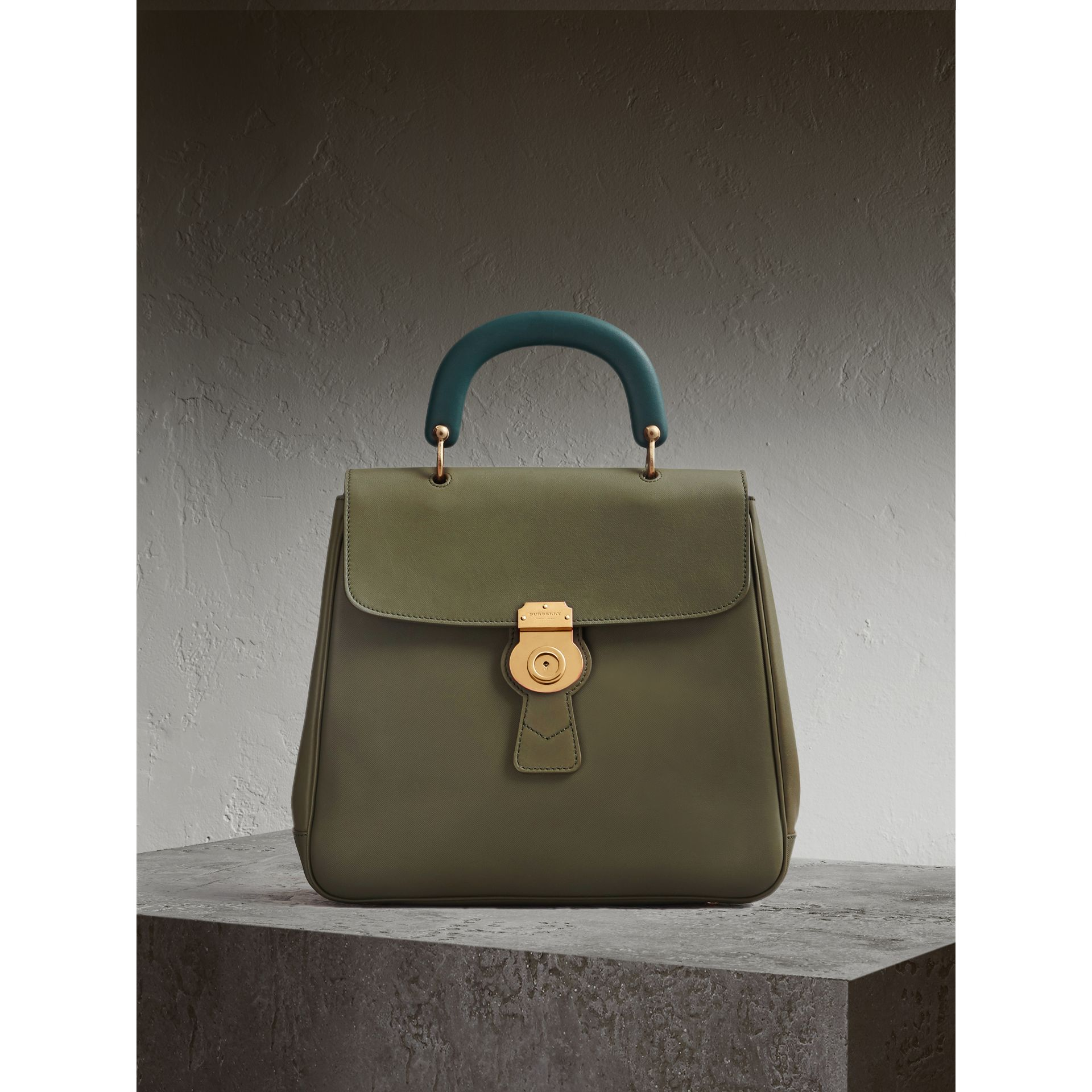 The Large DK88 Top Handle Bag in Moss Green - Women | Burberry Australia - gallery image 1