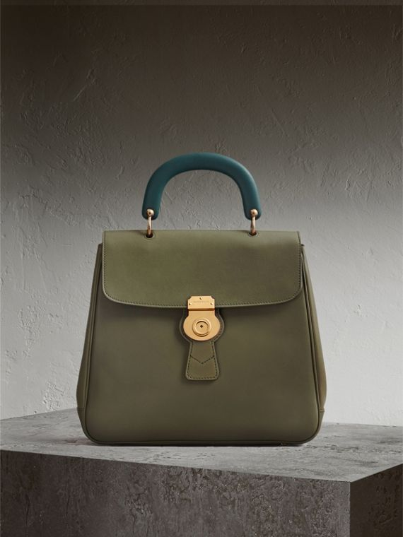 The Large DK88 Top Handle Bag in Moss Green - Women | Burberry
