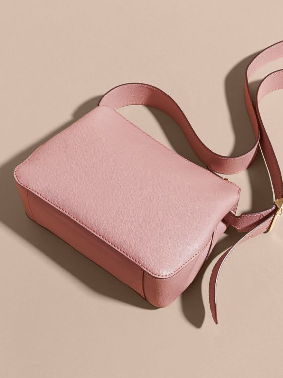 Buckle Detail Leather Crossbody Bag Dusty Pink - cell image 3