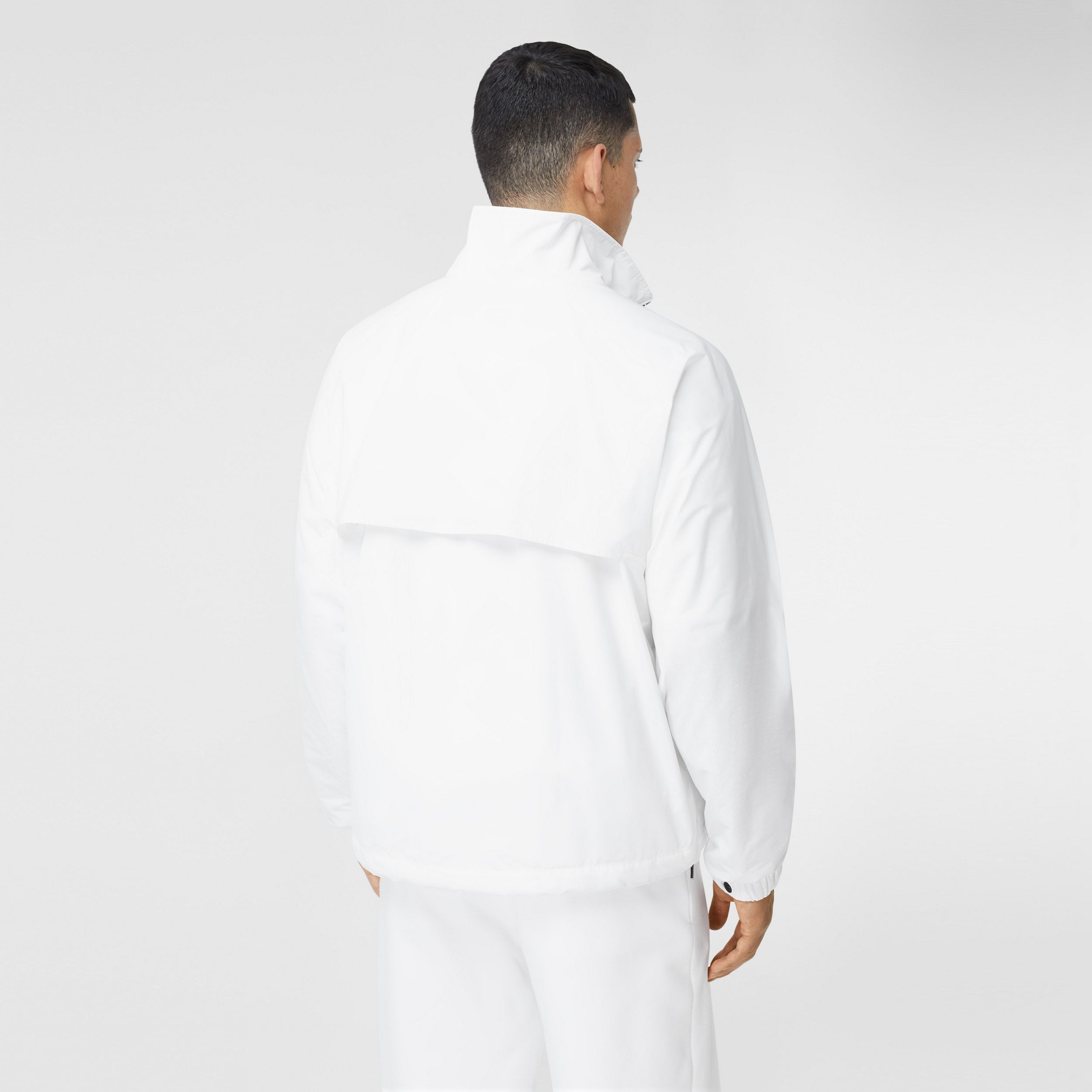 Globe Graphic Shape-memory Taffeta Jacket in Optic White - Men | Burberry - 3