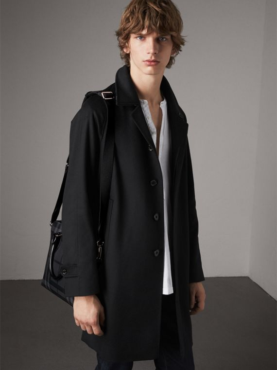 The Slim Barrow in London Check in Charcoal/black - Men | Burberry Australia - cell image 3